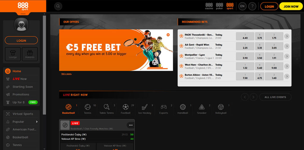 888Sport betting exchange in India.