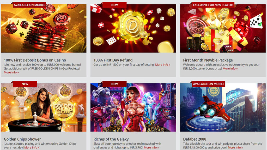Dafabet casino promotions.